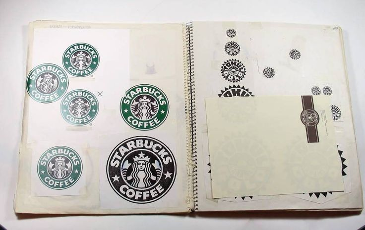 Rascunhos originais do logo da Starbucks