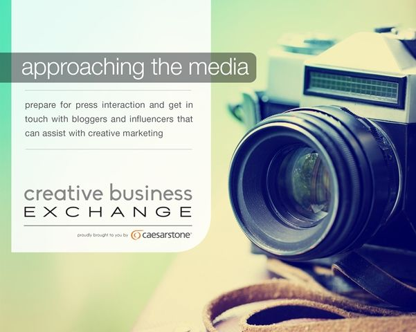 Topic of discussion at Creative Business Exchange - approaching the media for your creative business