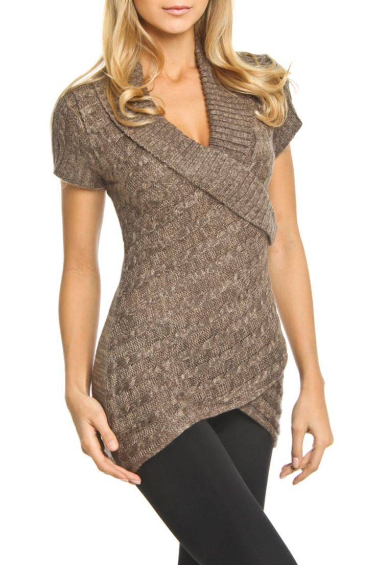 La Classe Couture Kensington Sweater in Bark Twist - Beyond the Rack