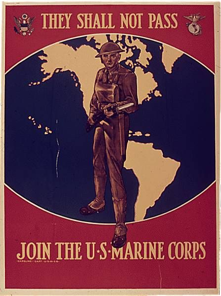Retro Marine Corps Recruiting Poster | Semper Fi Parents