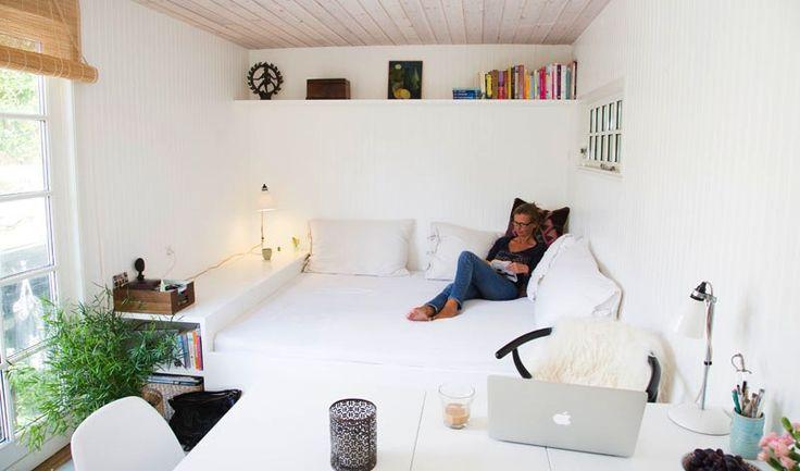Tiny house; bed/lounge sofa