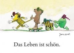 """Janosch Postkarte """"Das Leben ist schön."""""""