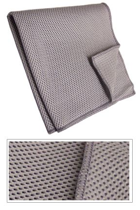 Super Scrubbing Cloth: A Mesh Weave Cloth for Amazing Amounts of Scrubbing Power.