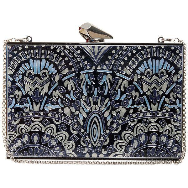 KOTUR Empire Merrick Clutch found on Polyvore featuring bags, handbags, clutches, aztec purse, evening clutches, kotur clutches, print purse y aztec print purse