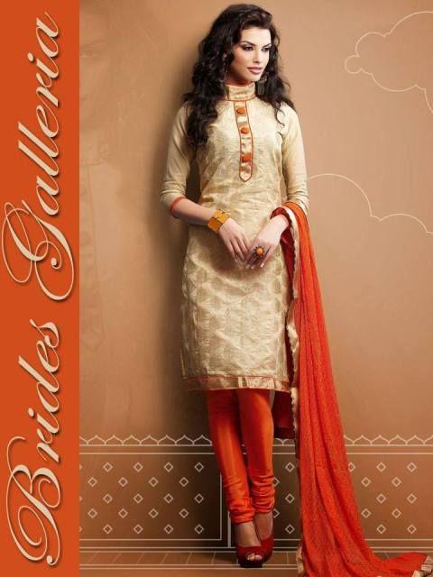 Brides Galleria Chanderi Silk Salwar Suits 2014 For Girls (7)