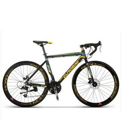 Road Bike 21-Speed Aluminum / EUROROAD Racing / Double Disc Brake System