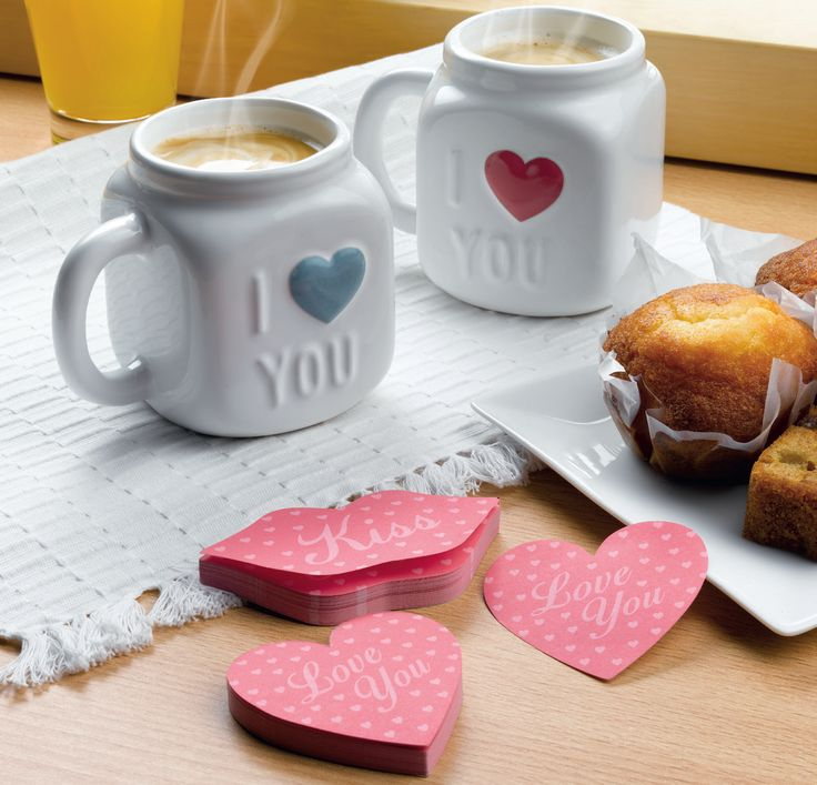 Bloco de Notas Valentines e Canecas Love