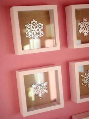 Snowflakes framed