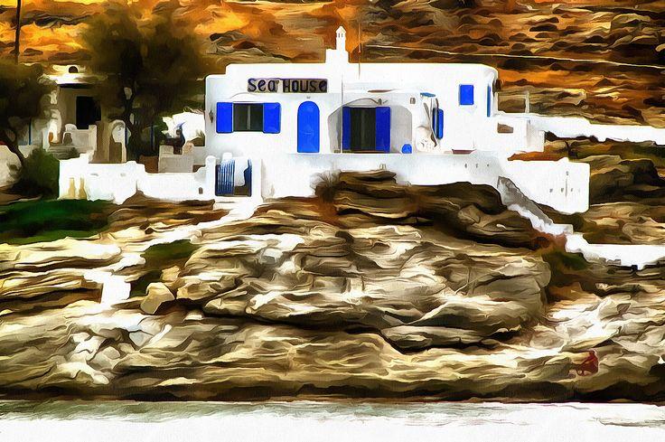 Sea House. Napossa, Paros, Greece.