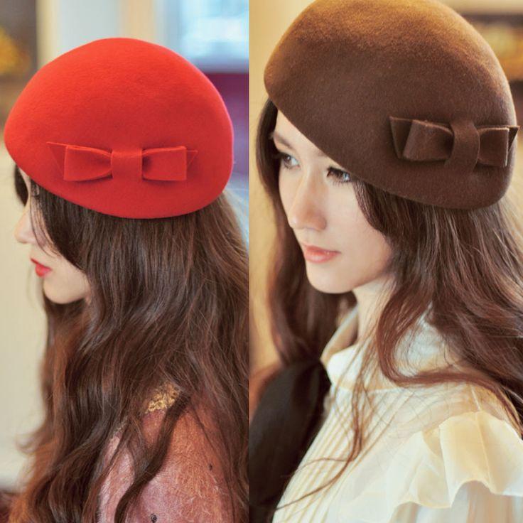 Chapeau de laine Bow