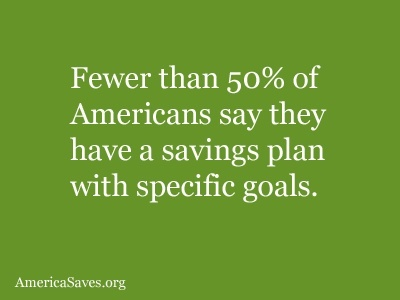 Don't be part of the 50% that do not have a savings plan!