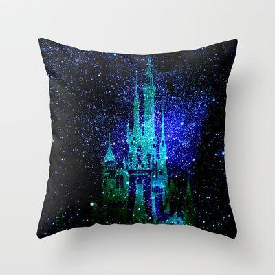 Dream castle. Fantasy Disney Throw Pillow by Guido Montañés - $20.00