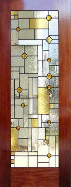 Frank Lloyd Wright Inspired Stained Glass (Thanks to James Patrick for getting this in front of my eyes.) LOVE it.