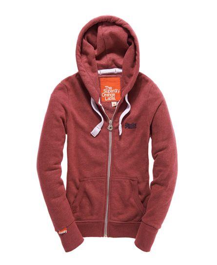 Superdry Orange Label Zip Hoodie - Women's Hoodies