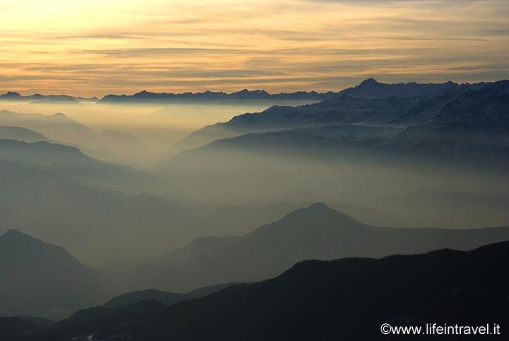 Sunset on Dolomites