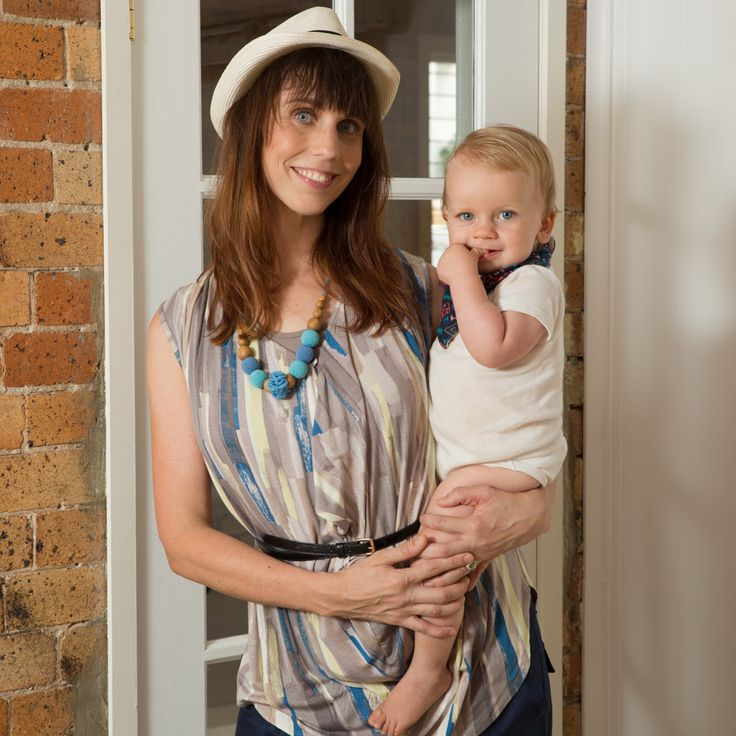 The lovely Emma and her bub Frankie wearing our new Soft Drape #breastfeeding and #maternity top :) Looking GORGEOUS