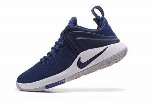 a8e89802048 Mens Nike Zoom Witness EP Lebron James White Midnight Navy Blue 852439 441  Basketball Shoes