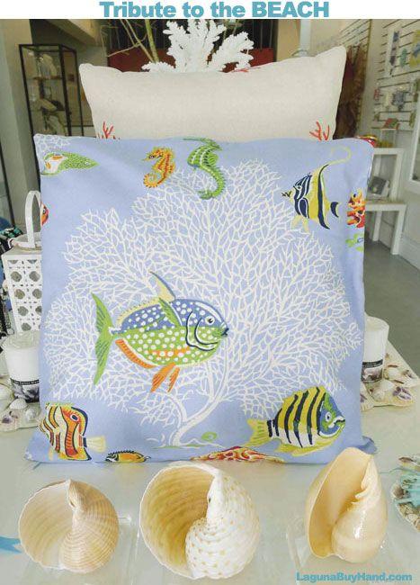 #handmade #lagunabeach beach theme pillow #shoplocal #madeinamerica