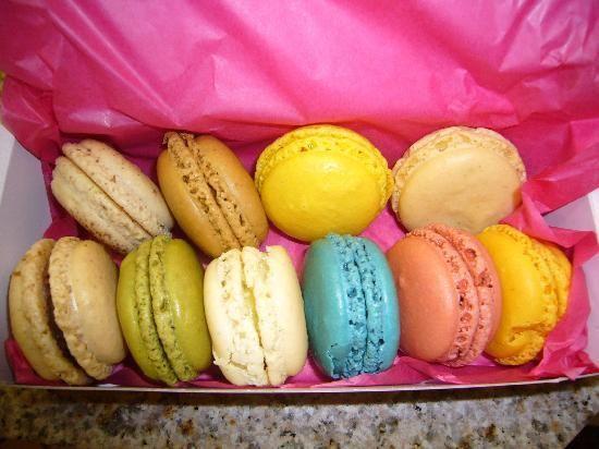 Rainbow #macarons from Le Macaron, Sarasota, Florida