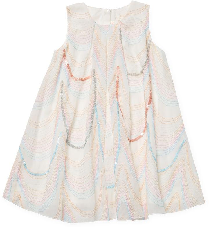 Billieblush Embroidered Pleated Dress