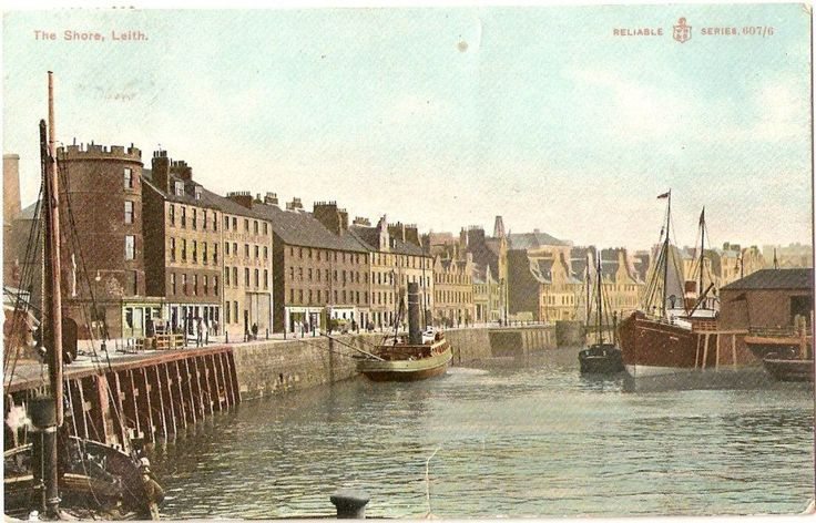 The shore, Leith, post card c1890s