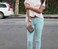 teal pants