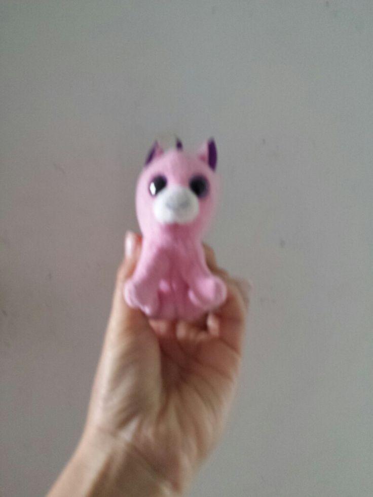 My beanie boo mini unicorn.