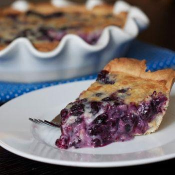 Blueberry Cream Pie Recipe   I'm using blackberries instead :)