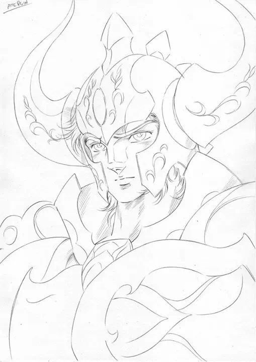 Saint Seiya Drawing by Araki