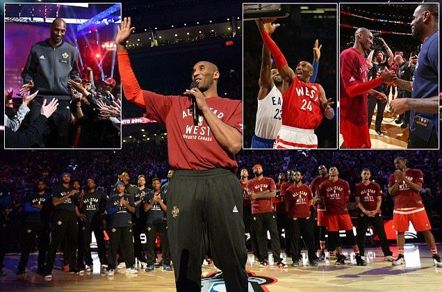 Kobe Bryant is main attraction in NBA All-Star Game as icons of the sport pay tribute to