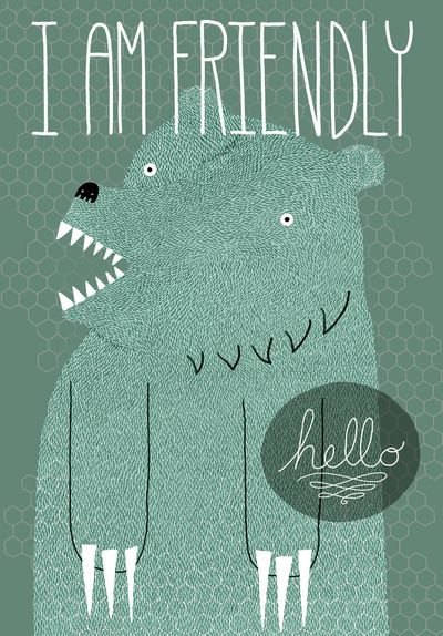 hello.: House Guest, Friends Bears, Bears Prints, Kids Books, Bears Hugs, Art Prints, Bears Art, Great Ideas, Graphics Patterns