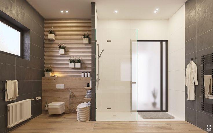Une salle de bain #moderne...  http://www.m-habitat.fr/douche/types-de-douches/la-douche-a-l-italienne-279_A
