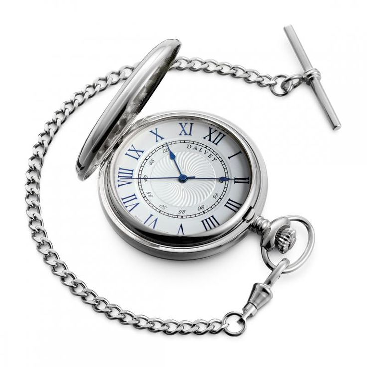 Full Hunter Pocket Watch with stainless steel badge