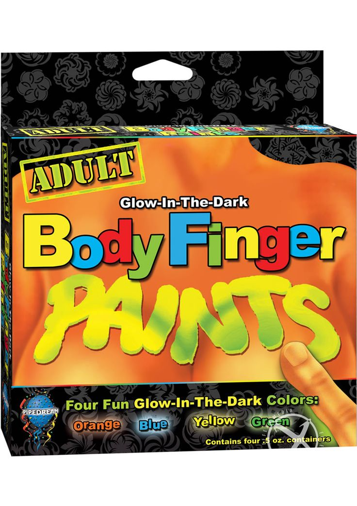 Buy Body Finger Paints Glow In The Dark Assorted Colors online cheap. SALE! $11.49