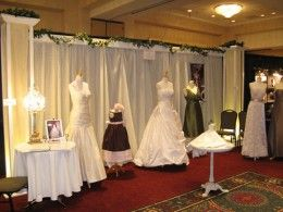 Example of a friendly, warm booth at a bridal show