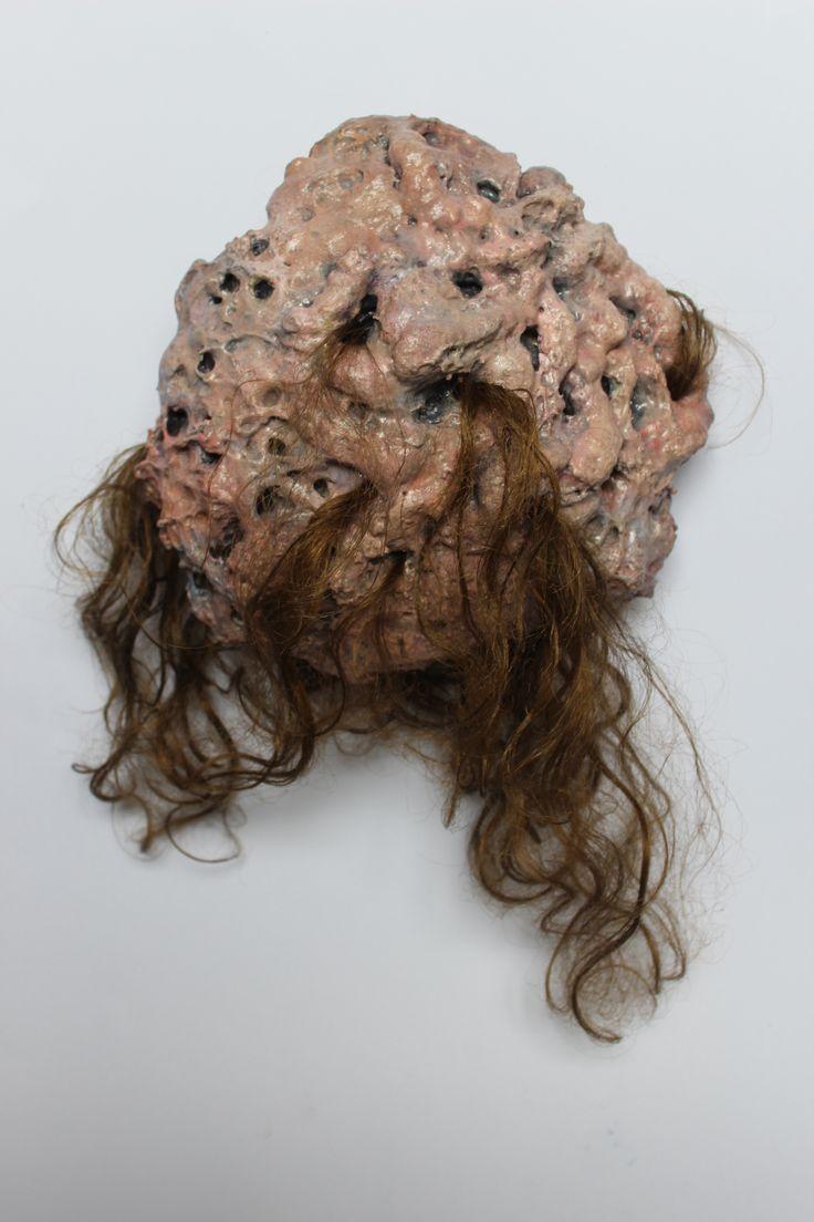 Arianne Wilson, God Blob, 25x25x10 cm, Expanding foam, hair,                                                                                                                                                     More