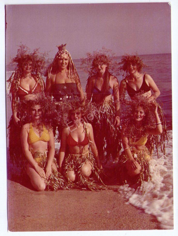Праздник Нептуна. Юмор. Девушки . 1979. Туристы. Купальник .Цветное Фото СССР.