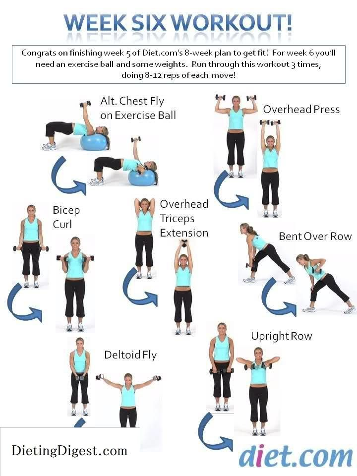 Week 6 workout assignment! #SpringFitnessChallenge Go to Dieting Digest Check out Dieting Digest