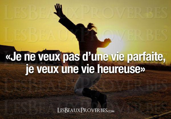 Les Beaux Proverbes – Proverbes, citations et pensées positives » » Une vie heureuse