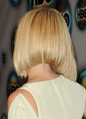 Alice Eve's Long Blonde Bob From the Back