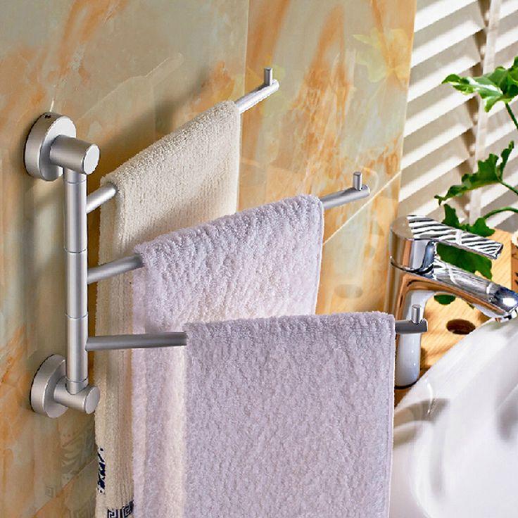 2014 new highquality space aluminum bathroom kitchen towel rack holder 3 swivel bars bathroom towel rack rail hardware 2014 new highquality space