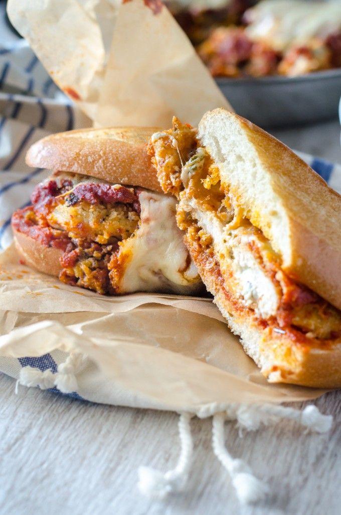 Stuffed Chicken Parmigiana Sandwich   Go Go Go Gourmet @gogogogourmet