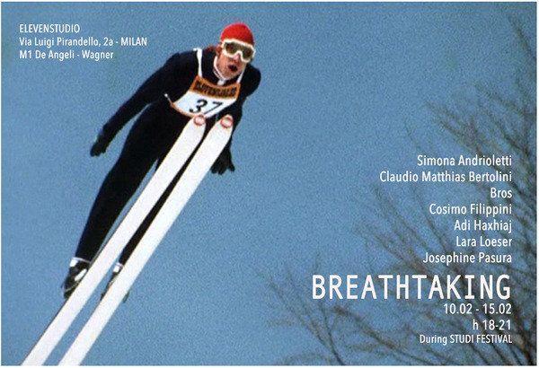 """Breathe-taking - Elevenstudio, Milano. Simona Andrioletti ha organizzato un progetto sul paesaggio unendo le visioni """"vertiginose"""" di 7 artisti provenienti da varie parti d'Europa. Nell'ambito di Studi festival..."""