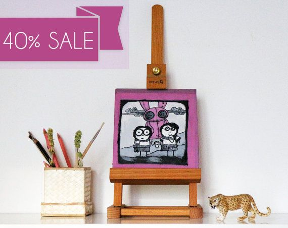 Nepal Aid  Giant pink bunny monster illustration by tostoini #crafters4nepal