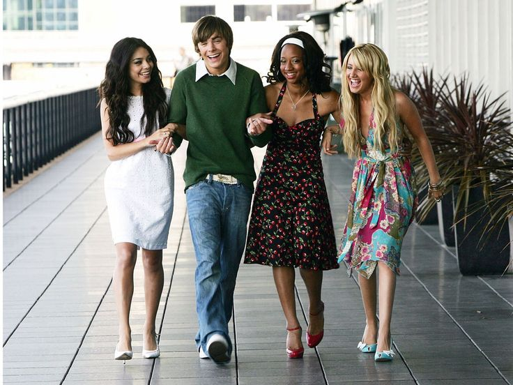 vanessa hudgens zac efron monique coleman and