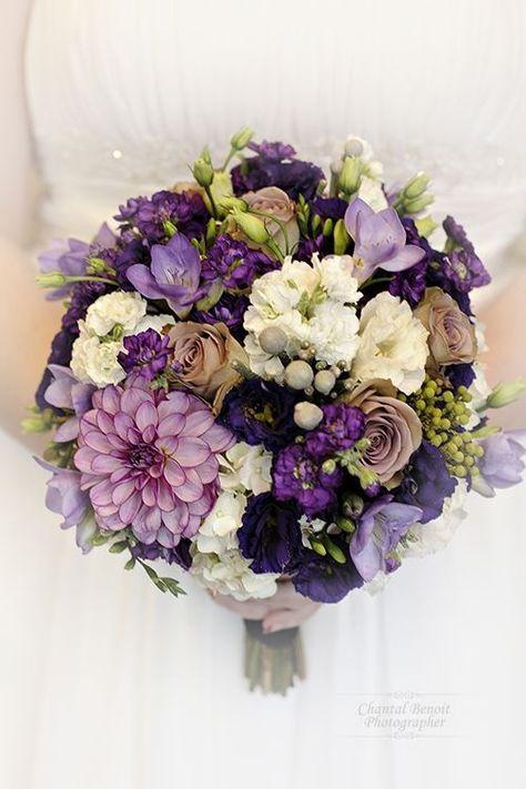 Purple Jewel Toned Bouquet