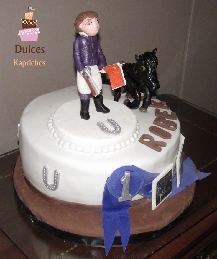 Torta Jinete #TortaJinete #TortaJineteHipico #TortasDecoradas #DulcesKaprichos
