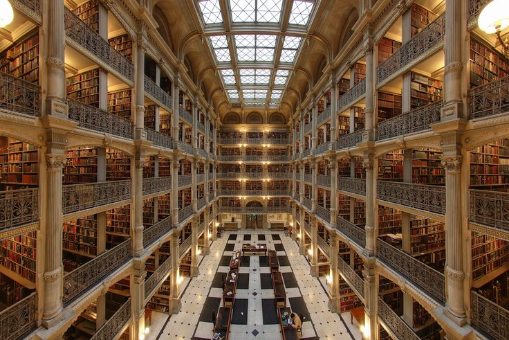 IlPost - George Peabody Library, USA - George Peabody Library, Johns Hopkins University, Baltimora, USA (Foto: Matthew Petroff)