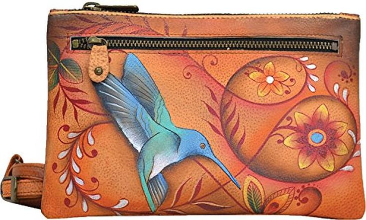 Anuschka Hand Painted Organizer Wallet with Smart Phone Case