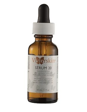 Vitamin C - IDS High Potency Serum 20 acts on the surface of the skin as an anti-aging factor by neutralizing free radicals produced in the skin. Vitamin-C  stimulates collagen formation and increases skin vitality and youthfulness. Vitamin-C IDS™  acts quickly by being absorbed topically into the skin and deposited in the spaces between cells where its action is optimal and controlled. Use Vivier Serums 10 & 20 on cheeks, chin, forehead, neck and décolleté area as desired.